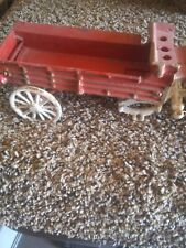 Cast Iron Budweiser Horses And Wagon