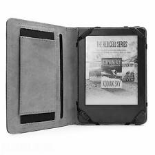Premium NERO Pelle Custodia Cover & Sottile Luce Nuovo Kindle (2016, 8th GENERATION)