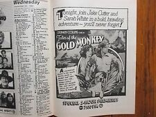 Sept-1982 Chicago Tribune TV Week(TALES OF THE GOLD MONKEY  PREMIERE/REAL PEOPLE