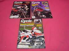 3 CYCLE MAGAZINES 1987 HARLEY FXRS BMW K100R3 YAMAHA FZR-400 XLH 883  (Y165)