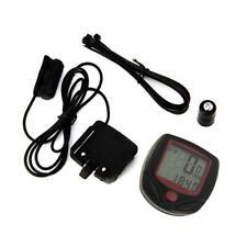 Schwarz LCD Funk Fahrradcomputer Fahrrad Tachometer Radfahren----Kilometerzähler