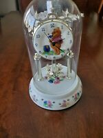 Disney Winnie the Pooh Glass Dome Rotating Bees Pendulum Anniversary Clock