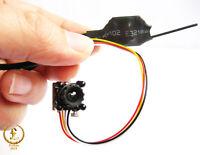 New DIY 200mw 2.4G wireless mini spy hidden nanny micro color video audio camera