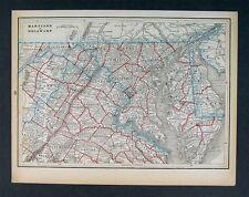 1893 Map Maryland Virginia Delaware Washington Richmond