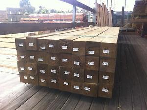 Treated Pine H4 90x90 Posts long lengths Merbau Decking Frame Bearer Joists Post