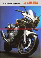 YAMAHA FZS 1000 Fazer - 2003 : Brochure - Dépliant - Moto                 #0618#