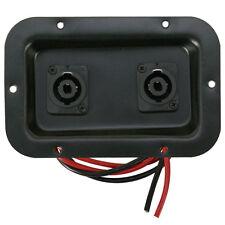 "jack plate dual Speakon connectors 3""x5"" for PA, DJ, Monitor speaker cabinets"
