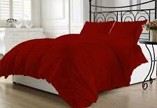 1Piece Burgundy Comforter Cotton 800TC Size Microfiber Fill Light Weight Solid