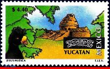 1974 MEXICO 1997 TOURISM YUCATAN, ARCHEOLOGY, BIRDS, CITIES, (4.40P), MNH