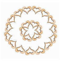 50Pcs Rustic Wooden Love Heart Mini Wood Cutout Wedding Craft