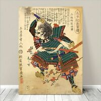 "Vintage Japanese SAMURAI Warrior Art CANVAS PRINT 36x24""~ Kuniyoshi  #274"