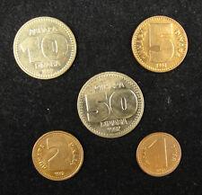Yugoslavia Coins Set of 5 Pieces 1992 Almost UNC