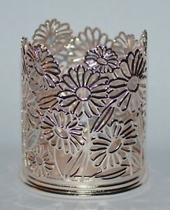 BATH & BODY WORKS ROSE GOLD FLOWERS HAND SOAP SLEEVE HOLDER FOAMING DEEP METAL