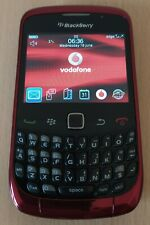 Used Blackberry Curve 9300 Email Phone Unlocked Shiny Red Mobile Phone
