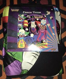 KILLER KLOWNS FROM OUTER SPACE SOFT PLUSH THROW BLANKET NEW