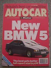 Autocar (3 Nov 1993) Dodge Viper, AC Ace, Seat Ibiza, Mercedes C250D, Alpina B25