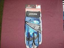 Marucci Elite Professional Batting Gloves Cabretta Leather, Blue Size: Small