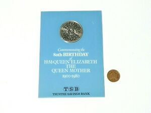 1980 Queen Mother's 80th Birthday Commemorative Crown Original Booklet a/f