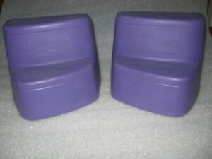 Pair of 2 Step 2 Straight Shot Roller Coaster Step Base Replacement Part Purple