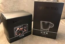 NESPRESSO VIEW CUBE & GLASSES SET NEW LUNGO CUPS & SAUCERS ANTOINE CAHEN