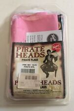 "New 12"" x 18"" Pirate Girl Pink Pirate Heads Flag Boat Taylor Made 1801"