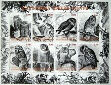 OWL STAMPS SHEET MNH BIRD STAMPS WILDLIFE STAMPS PRIVATE/LOCAL ISSUE