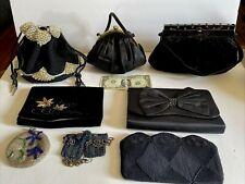 Lot of 7 Vintage Beaded  ~ Velvet ~ Satin ~ Crochet Handbags * As Is *
