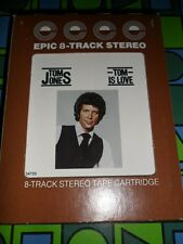 TOM JONES ~ TOM IS LOVE ~ 8 TRACK TAPE ~ RARE 1977 EPIC 34720 ~ Venus Proud Mary