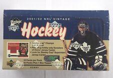 2001-02 Upper Deck Vintage Factory Sealed NHL Hockey Hobby Box