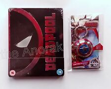 Avengers Ultron CAPTAIN AMERICA Shield Keyring +DEADPOOL UK Blu Ray Steelbook+UV