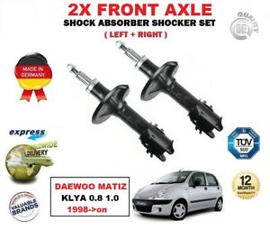 FOR DAEWOO MATIZ KLYA 0.8 1.0 1998->on 2X FRONT LEFT + RIGHT SHOCK ABSORBERS SET