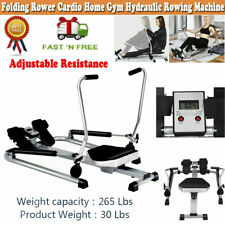 Exercise Rowing Machine Resistance Adjustable Cardio Equipment Home Gym Fitness