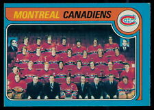 1979-80 OPC O PEE CHEE #252 MONTREAL CANADIENS TEAM EX-NM UNMARKED W/Ken Dryden