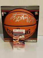 Allen Iverson Signed Philadelphia 76ers Spalding Basketball Inscribed JSA-W COA