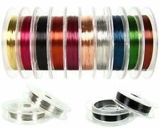 10 Rollen Qualitäts Schmuckdraht Basteldraht Ø 0,3mm Kupfer 10m je Spule SD001