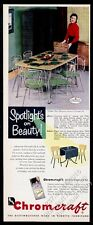 1954 Chromcraft chrome chair dinette table Miss Missouri photo vintage print ad