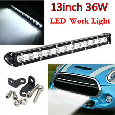 13Inch 36W CREE LED Light Bar Offroad 4WD SUV ATV Driving Work Lamp Spotlight
