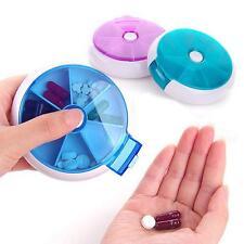 Rund Pillendosen 7 Tagen Pillenbox Medikamentenbox Tablettenbox Lagerbehälter