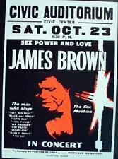JAMES BROWN 1971 GLOBE CARDBOARD CONCERT POSTER 2ND PRINT
