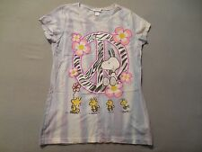 Snoppy Woodstock Friends Peace Love Peanuts T-Shirt Juniors 12