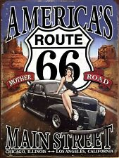 Route 66, Retro Vintage Metal Sign, Man Cave, Garage, Gift