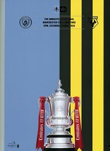 Manchester City v Watford 18th May 2019 Emirates FA CUP Final Programme