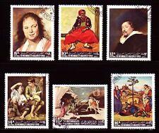 Yemen 1967 used c.t.o mi.290/95 a pinturas paintins van gogh Frans cuello Raffael