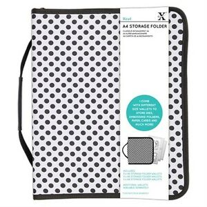 DoCrafts XCUT A4 STORAGE FOLDER FOR EMBOSSING FOLDERS, DIES & STAMPS + WALLETS