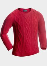 Quality Boys Cable Knit Pullover jumper age 4-5 years 4 to 5 4/5y Red Lava