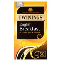 Twinings English Breakfast Tea Bags - Well Rounded - Quantity 200 (4 x 50 packs)