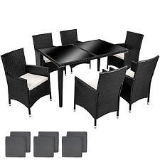 Ratán aluminio Muebles conjunto para jardín comedor juego de mesa antracita