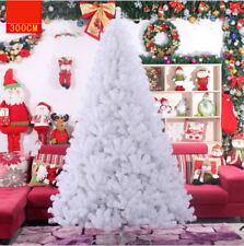 Hot White Christmas Tree Artificial PVC Leaf Based Decorate Ornament 3 ft-10 ft