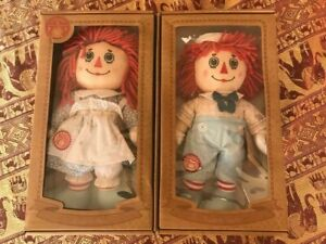 Raggedy Ann and Andy Dolls Hasbro Boxed Set With Certificate Of Authenticity