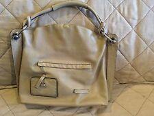BCBG MAX AZRIA Large Tuape Tan Leather Bucket Hobo Satchel Tote Purse Bag